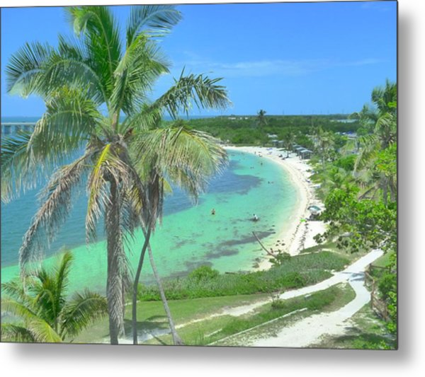 Tropic Beach Metal Print