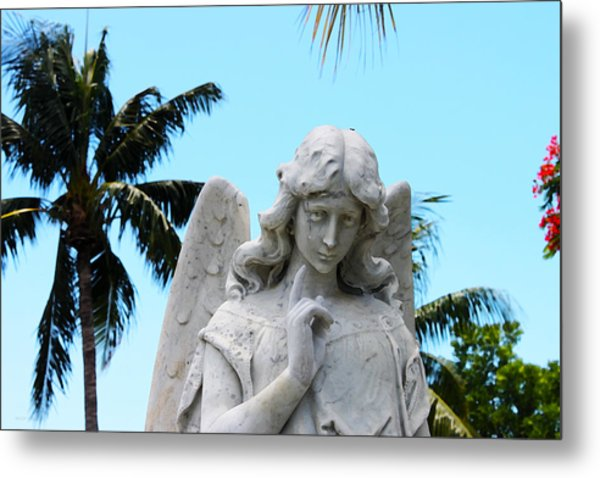 Tropical Angel With Tear Metal Print