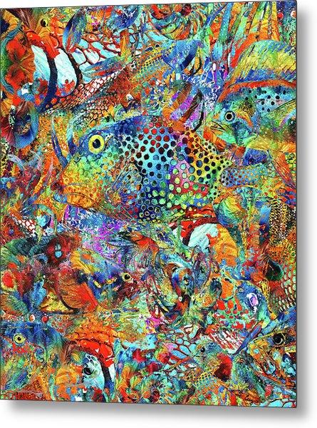 Tropical Beach Art - Under The Sea - Sharon Cummings Metal Print
