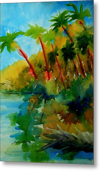 Tropical Canal Metal Print