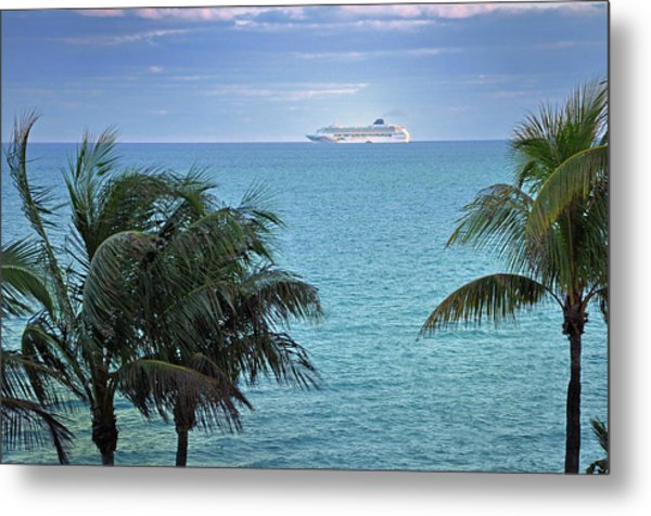 Tropical Cruise Metal Print