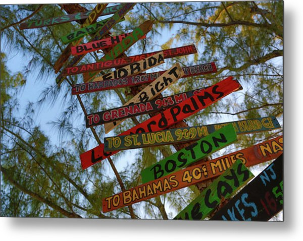 Tropical Directions Metal Print