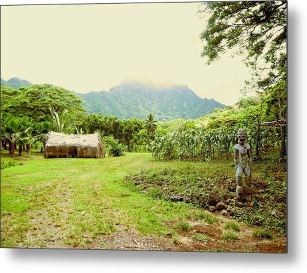 Tropical Farm Metal Print by Halle Treanor