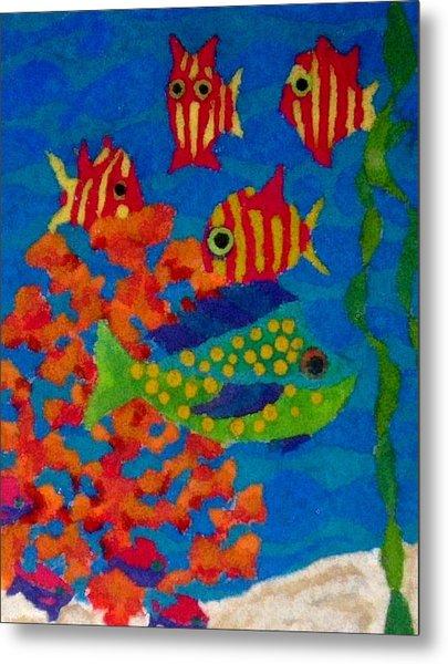 Tropical Fish Metal Print by Jeanette Lindblad