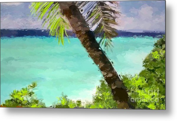 Tropical Hawaiian Palm Metal Print