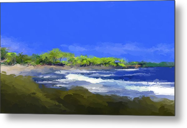 Tropical Island Coast Metal Print