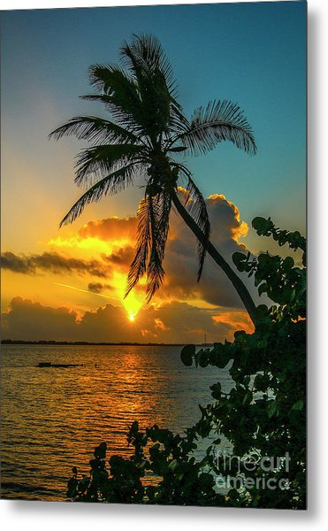 Tropical Lagoon Sunrise Metal Print