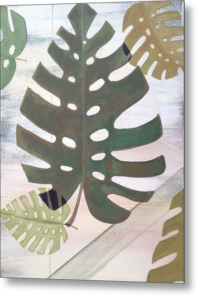 Tropical Leaf Metal Print