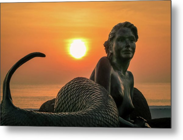 Tropical Mermaid Metal Print