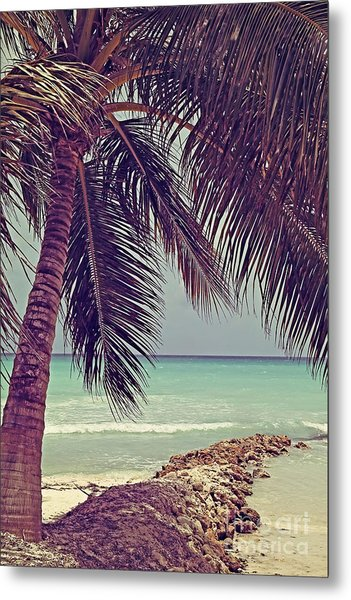 Tropical Ocean View Metal Print