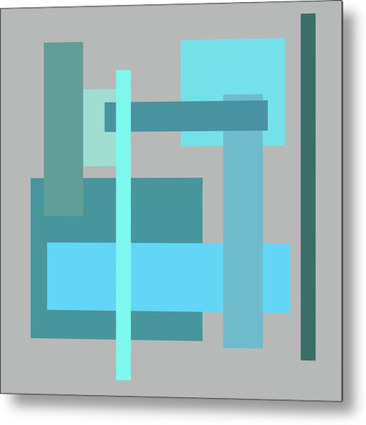 Tropical Oceans Square Abstract Metal Print