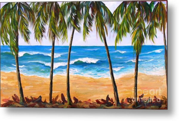 Tropical Palms 2 Metal Print