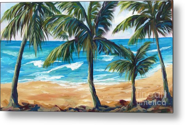 Tropical Palms I Metal Print