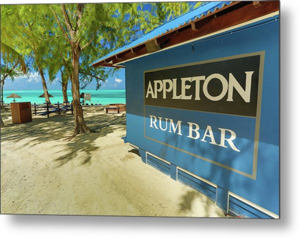 Tropical Rum Bar Metal Print