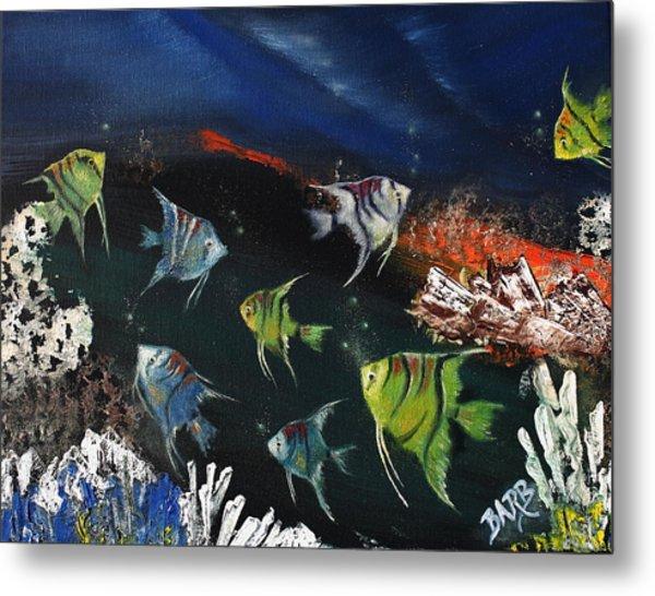 Tropical Seaworld Metal Print by Barbara Teller