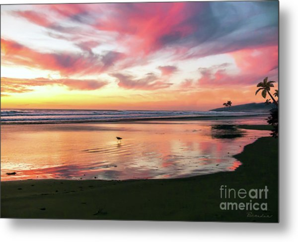Tropical Sunset Island Bliss Seascape C8 Metal Print