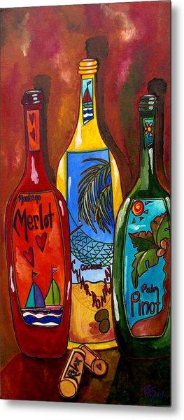 Tropical Wine Metal Print by Patti Schermerhorn