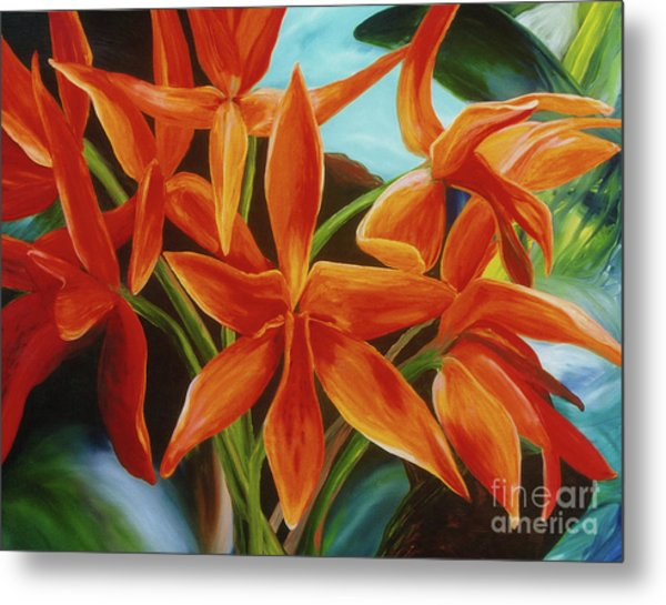 Metal Print featuring the painting Tropicana by Donna Hall