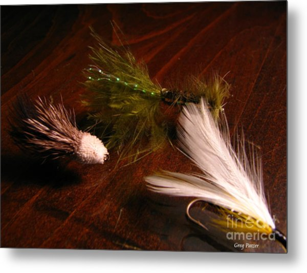 Trout Flys Metal Print by Greg Patzer