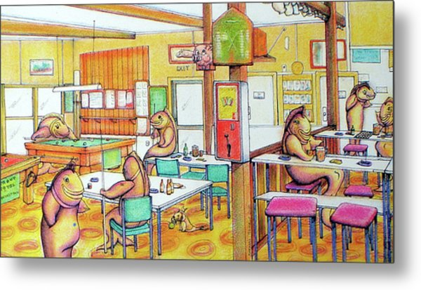Trout Hotel Canvastown Metal Print by Barbara Stirrup