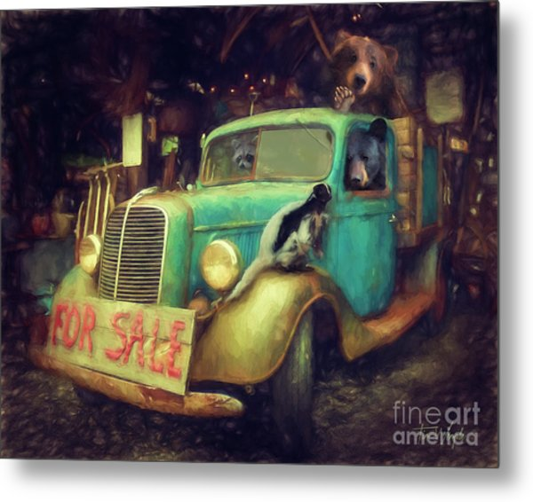 Truck Sale Metal Print by Tim Wemple