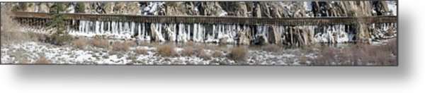 Truckee River Flumes Metal Print by Edward Hass