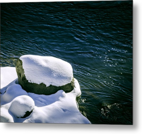 Metal Print featuring the photograph Truckee River Snow by William Havle