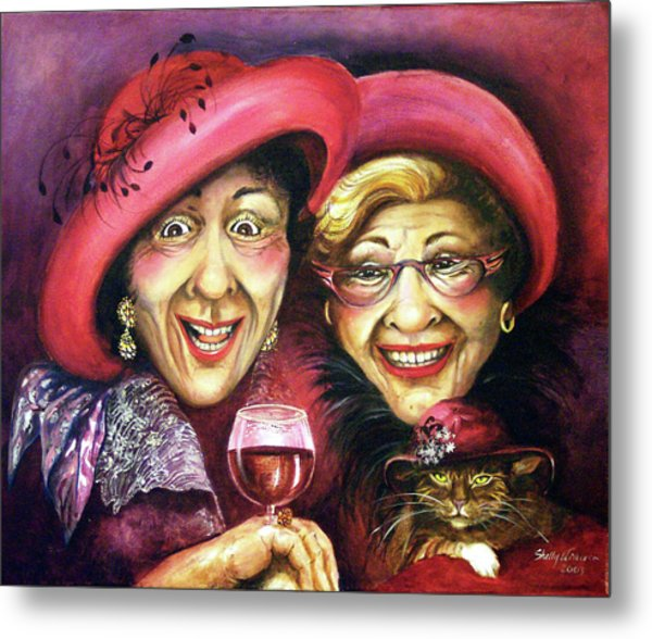 Trudy And Grace Play Dressup Metal Print by Shelly Wilkerson