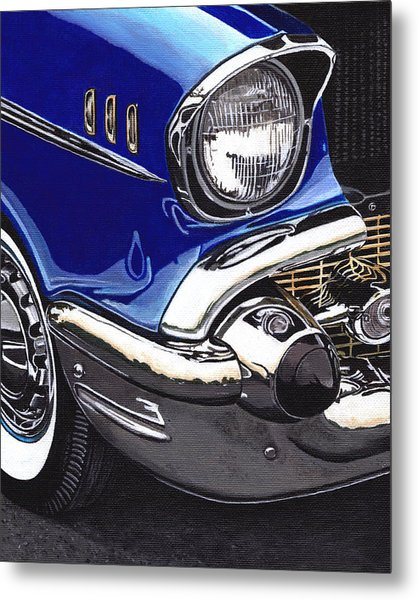 True Blue '57 Metal Print