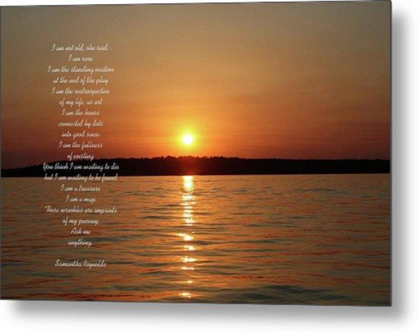 True Colors Poem For Tom P Metal Print