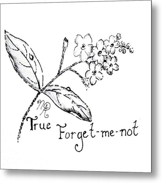True Forget-me-not Metal Print