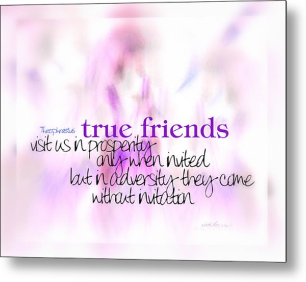 True Friends Metal Print