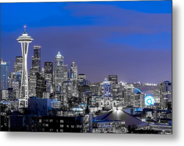 True To The Blue In Seattle Metal Print