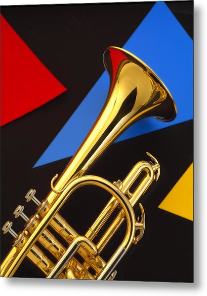 Trumpet And Triangles Metal Print