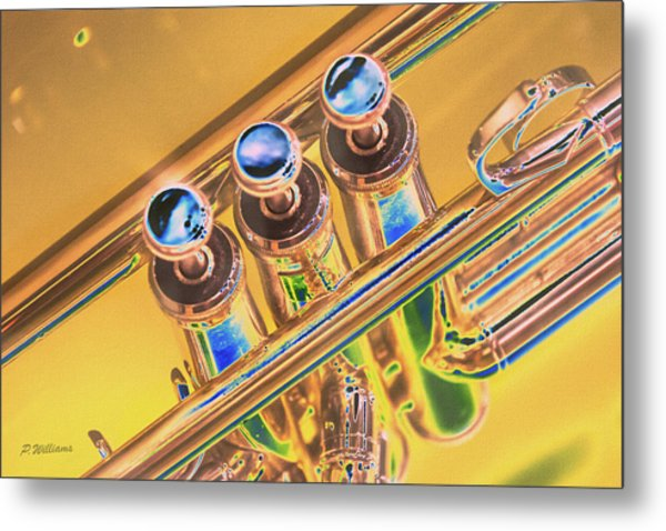 Trumpet Keys Metal Print