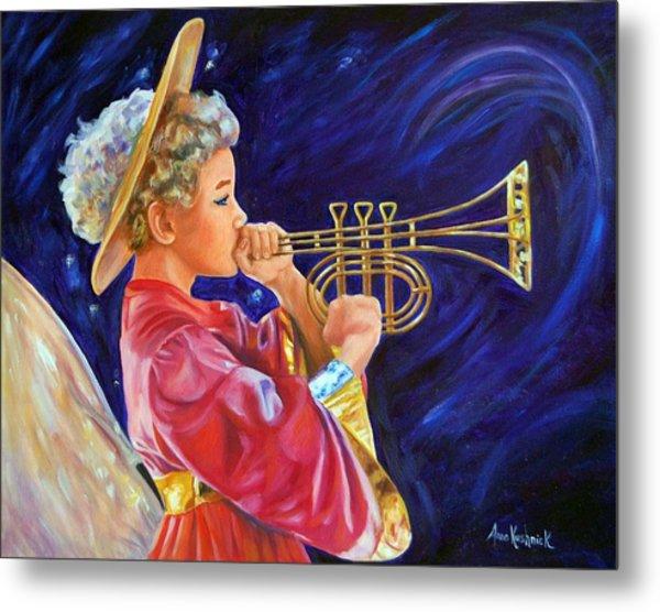 Trumpeting Angel Metal Print