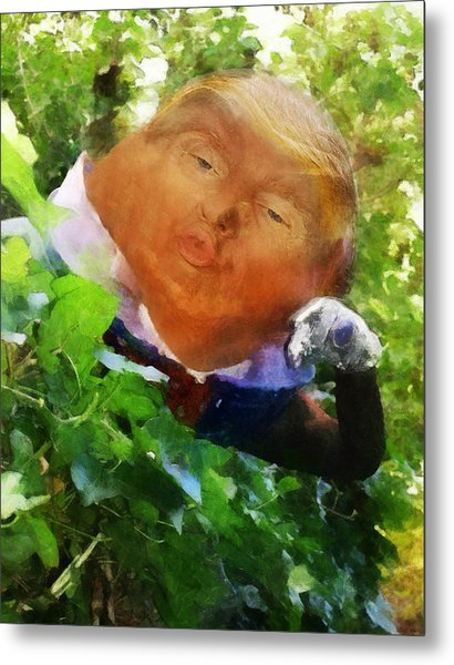Trumpty Dumpty San On A Wall Metal Print