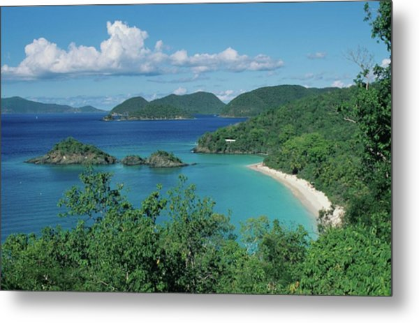 Trunk Bay And Beach Metal Print