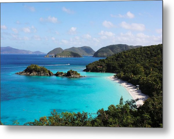 Trunk Bay, St. John Metal Print
