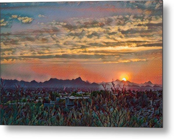 Metal Print featuring the photograph Tucson Sunset Remix by Dan McManus