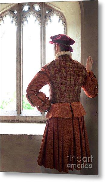Tudor Man At The Window Metal Print