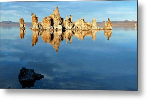 Tufa Reflection At Mono Lake Metal Print