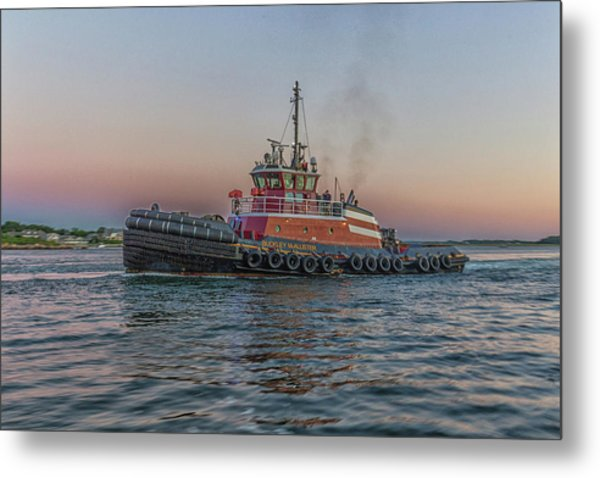 Tugboat Buckley Mcallister At Sunset Metal Print