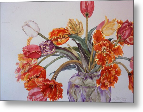 Tulip Bouquet - 12 Metal Print by Caron Sloan Zuger