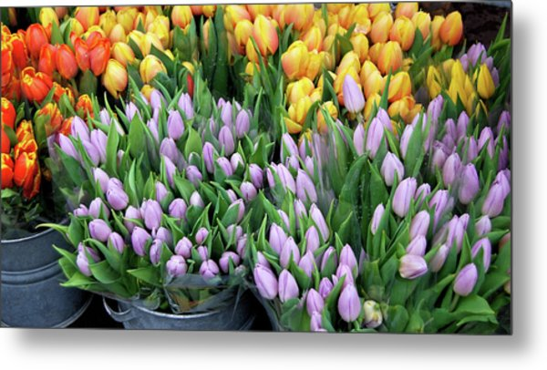 Tulip Bouquets For Sale Metal Print by JAMART Photography
