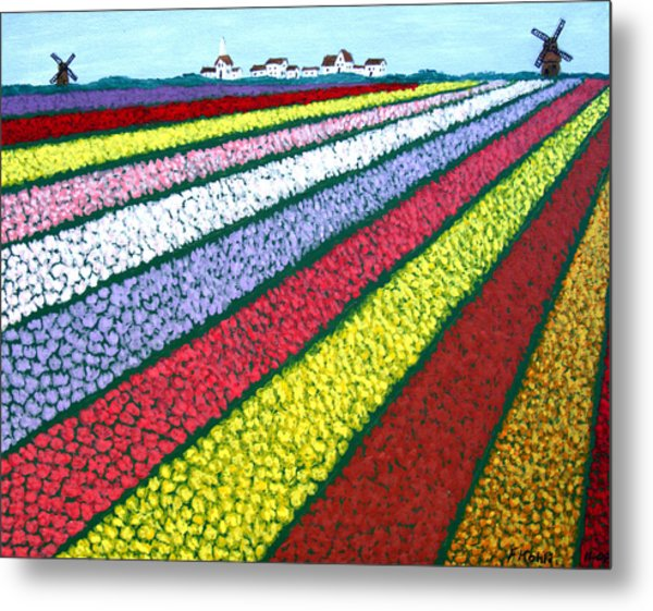 Tulip Fields Metal Print by Frederic Kohli