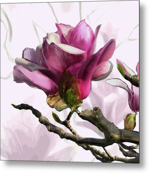 Tulip Trees Metal Print