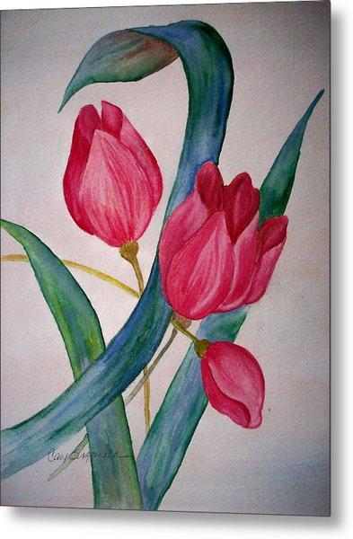 Tulip Tulip Metal Print by Cary Singewald
