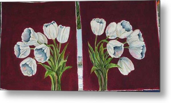 Tulips 11 And 12 Metal Print by Diane Ziemski