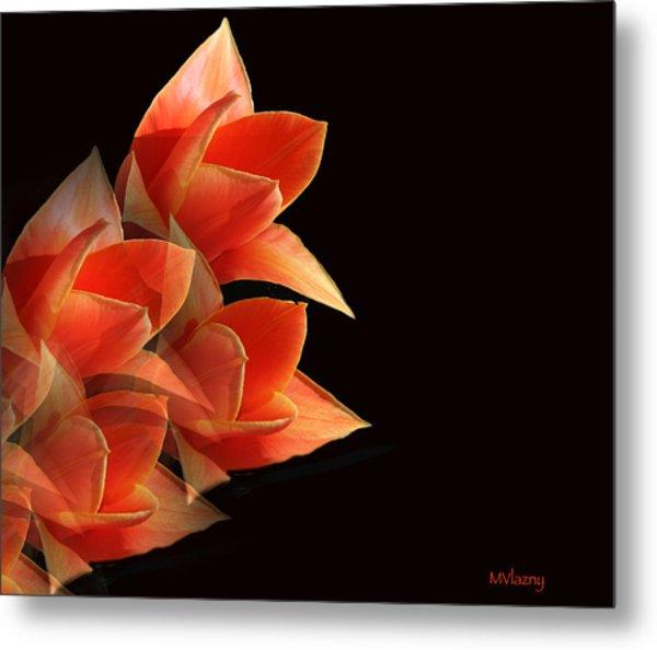 Tulips Dramatic Orange Montage Metal Print